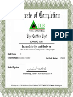 Osha Training Certificate