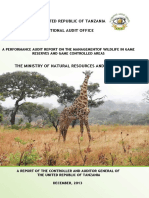 Management of Wildlife in Game Reserve
