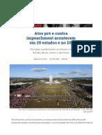 Atos Pró e Contra Impeachment Acontecem Em 25 Estados e No DF _ Vida Pública _ Gazeta Do Povo