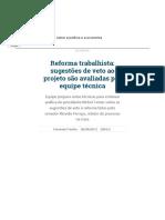 Reforma Trabalhista_ Sugestões de Veto Ao Projeto São Avaliadas Por Equipe Técnica _ República _ Gazeta Do Povo