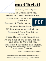 Anima Christi Card