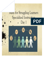 Specialized Math Instruction 2-Day First Day