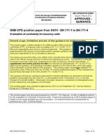 NB-CPD SG10 12 091 - En 771 Series - Evaluation of Conformity for Masonry Units