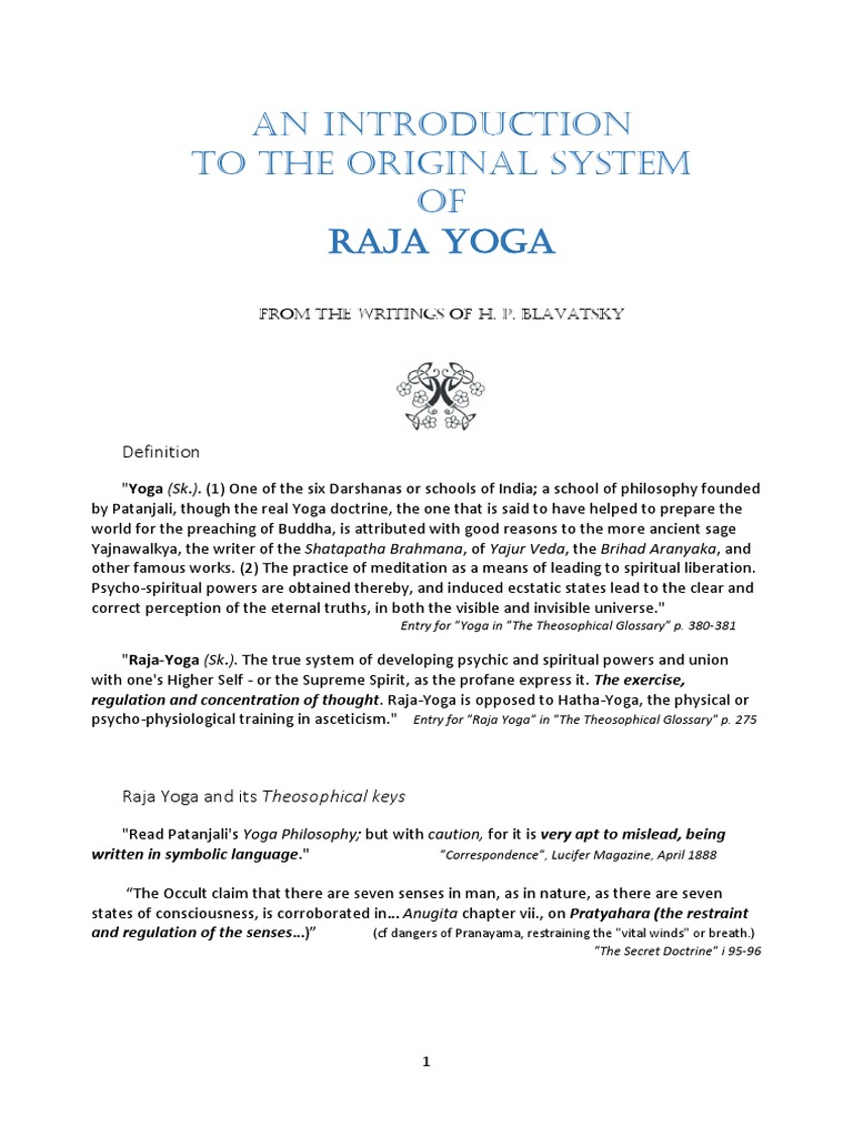 An introduction to the original system of raja yoga hatha yoga an introduction to the original system of raja yoga hatha yoga yoga biocorpaavc Image collections