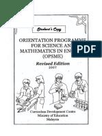 OPSME Student's Copy