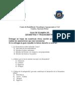 Guia de de Examen de Geometria y Trigonometria