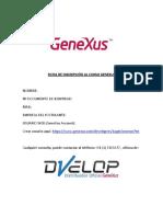 Ficha de Inscripción Al Curso Genexus