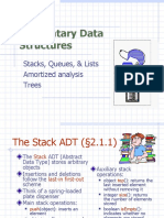 Elementary Data Structures - Stacks, Queues, & Lists, Amortized analysis Trees.ppt