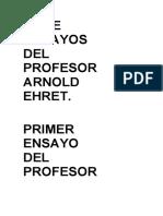 Siete Ensayos Del Profesor Arnold Ehret