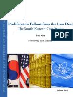 Proliferation Fallout South Korea