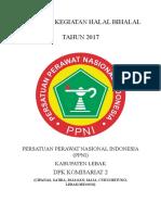 Proposal Kegiatan Halal Bihalal