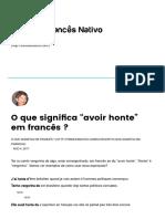 """O Que Significa """"Avoir Honte"""" Em Francês _ – FrancêsNativo"""