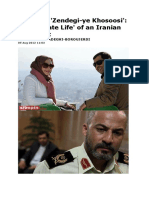 'Zendegi-ye Khosoosi'-The 'Private Life' of an Iranian Reformist
