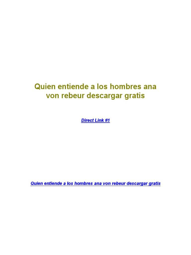 ana von rebeur libros pdf descargar
