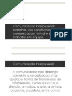 Comunicação-Interpessoal