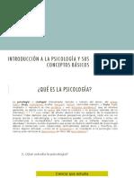 Introducción a La Psicología y Sus Conceptos Básicos