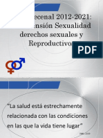 Generalidades Plan Decenal de Salud Sexual Caro