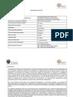 Programa Analítico TC