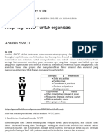 SWOT Untuk Organisasi _ Learning is the Journey of Life