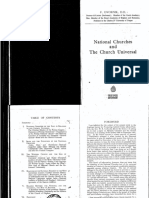 National Churches and the Church Universal