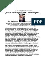 Henri Schumacher Jean-Claude Juncker Chefdirigent in Brüssel
