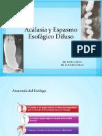 Acalasia y espasmo esofagico difuso