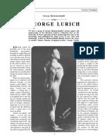 George Hackenschmidt Sobre Georg Lurich