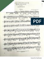 Sonatensatz Viola Part