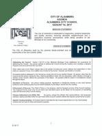 Alhambra City Council agenda August 14, 2017