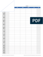 Class Schedule - Template