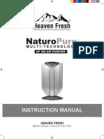 Heaven Fresh 380 Air Purifier User Manual