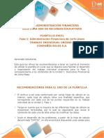 Guía Para El Uso de Recursos Educativos - Plantilla Excel Unidad 1