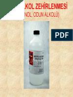 METİL ALKOL ZEHİRLENMESİ