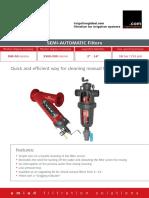 Scan Brush Semi Automatic Screen Filters Technical Data