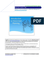 Introduction to Watershed Planning
