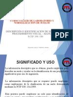 Clasificación e identificación  Visual - Manual de los suelos