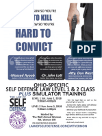 Law of Self Defense LEVEL 1 & 2 OHIO (6/2/18)