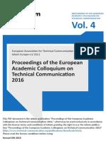 Tekom Europe Annual Gift 2016 Proceedings Vol4
