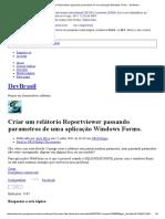 Criar Um Relátorio Reportviewer Passando Parametros de Uma Aplicação Windows Forms