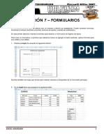 Práctica de EXCEL Avanzado Lección 7 formularios