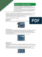 Placas de Arduino