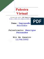 Depressão e Suicídio - Henrique Fernandes