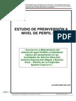 Perfil SNIP Huacora y Anexos