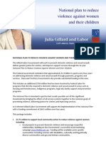National Plan on Violence Against Women Fact Sheet