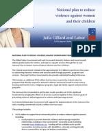 National Plan on Violence Against Women Fact Sheet