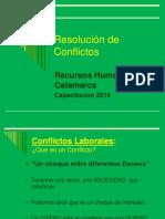 Resolucion de Conflictos 2014