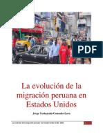 La evolución de la migración peruana en Estados Unidos.