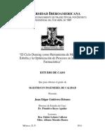 CASO DE ESTUDIO - EL ciclo DEMING como herramienta LEAN y la optimizacion de procesos en la industria farmaceutica - Mexico 2011.pdf