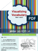 visualizing vocabulary 1-10  11-20