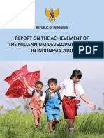 Report on the Achievement of the Millennium Development Goals in Indonesia